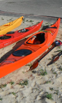 Sea Kayaks on the sand