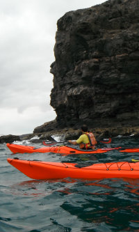 sea kayaks off Fuerteventura