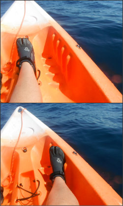 Footrest fitting on Sit On Top Kayak