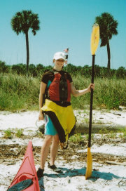 Girl with Kayaking kit
