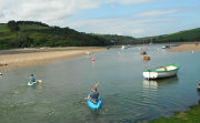 Kayakers on an estuary in Devon