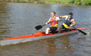 high kneeler double racing canoe