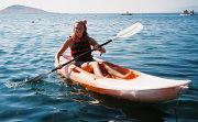 Girl on Sit on Top Kayak