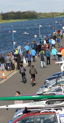 overview of sprint regatta Holme Pierrpont