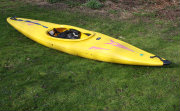 Yellow White Water Kayak
