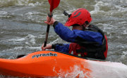 White Water Kayaker in orange boat