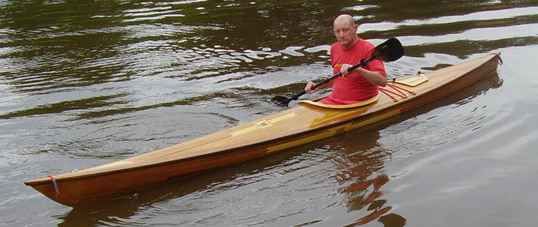 wood veneer kayak