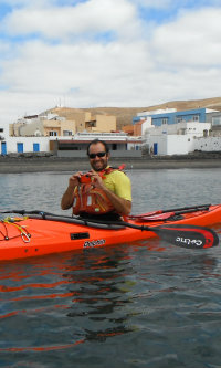 taking photos from a sea kayak