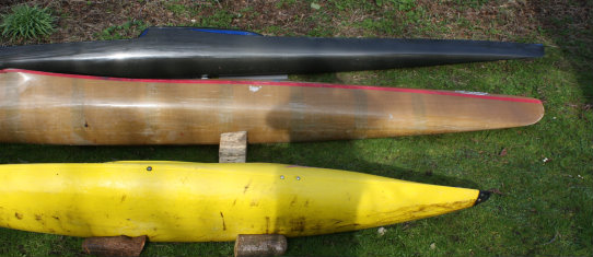 Racing Kayak, WWRacer & White Water play boat compared