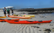 sea kayak on beach
