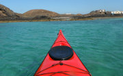 Turqoise sea view from sea kayak