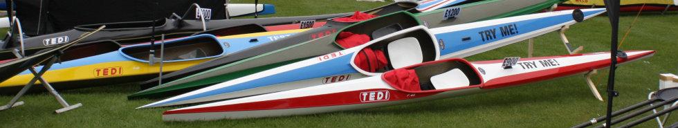 Racing Kayaks on Display