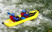 Inflatable Kayak on rapids